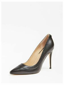 Guess Omara Real Leather Court Shoe