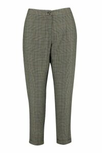 Womens Petite Checked Tapered Trouser - grey - 16, Grey