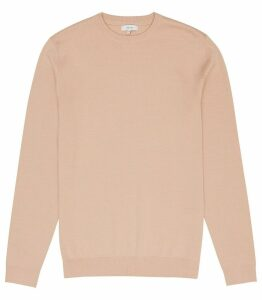 Reiss Maurice - Crew Neck Jumper in Soft Pink, Mens, Size XXL