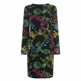 Versace Jeans Couture Baroque Print Midi Dress