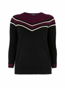 Plum Chevron Jumper, Black