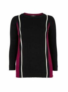 Berry Side Stripe Jumper, Black