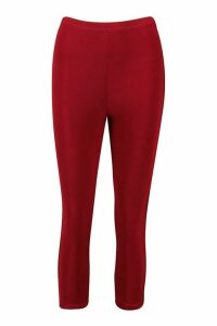 Womens Soft Touch Capri Gym Leggings - red - 14, Red