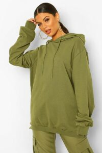 Womens Extreme Oversized Hoodie - green - 8, Green