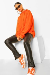 Womens Extreme Oversized Hoodie - orange - 14, Orange