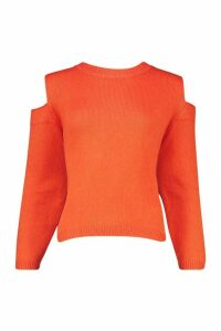 Womens Oversized Jumper - orange - S, Orange