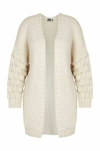 Womens Plus Premium Bobble Knitted Jumper - beige - 24, Beige