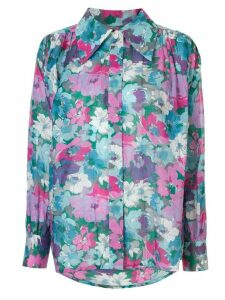 Christian Dior Pre-Owned floral print blouse - Blue