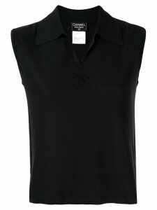 Chanel Pre-Owned 1998 CC polo shirt - Black