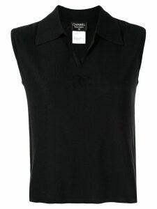 Chanel Pre-Owned 1998 CC polo shirt - Black