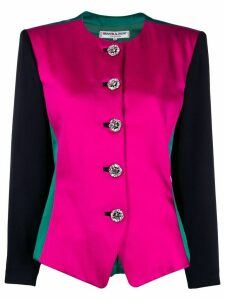 Yves Saint Laurent Pre-Owned 1980s round neck jacket - PINK