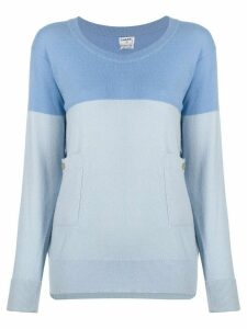 Chanel Pre-Owned 1990s two-tone jumper - Blue