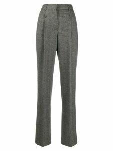 Moschino Pre-Owned 1990s tailored herringbone trousers - Grey