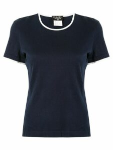 Chanel Pre-Owned contrasting details T-shirt - Blue