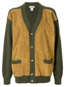 Hermès Pre-Owned cashmere panelled relaxed cardigan - Brown