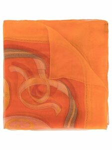 Hermès Pre-Owned patterned scarf - ORANGE