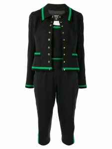 Chanel Pre-Owned 1994 strapless playsuit and jacket - Black
