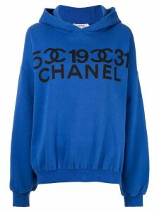 Chanel Pre-Owned 5-19-31 Chanel oversized sweatshirt - Blue