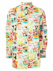 Chanel Pre-Owned abstract print shirt - Multicolour