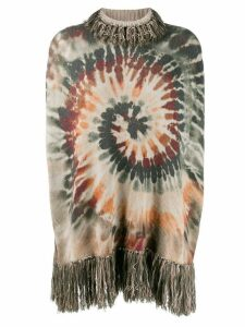 Valentino Pre-Owned cashmere tie dye fringed top - Green