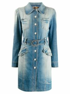 Dolce & Gabbana Pre-Owned denim trench coat - Blue
