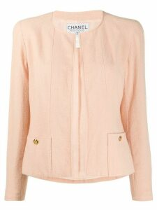 Chanel Pre-Owned 1996 collarless open jacket - PINK