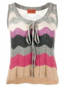 Missoni Pre-Owned 1970s scalloped pattern knitted top - NEUTRALS