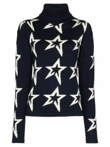 Perfect Moment Star pattern turtleneck jumper - Blue