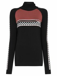 Sweaty Betty check panel base-layer ski top - Black
