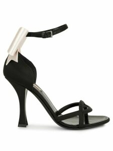 Fabrizio Viti satin bow sandals - Black