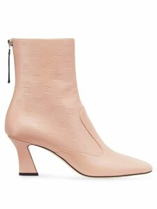 Fendi FFreedom square toe ankle boots - Pink
