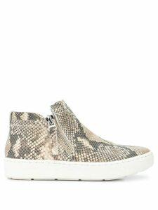 Dolce Vita snakeskin effect side zip sneakers - Brown