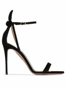 Aquazzura Deneuve 105mm bow sandals - Black