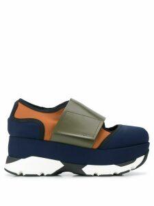 Marni colour-block low-top flatform sneakers - Blue