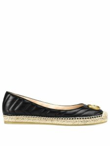 Gucci Marmont GG leather espadrilles - Black