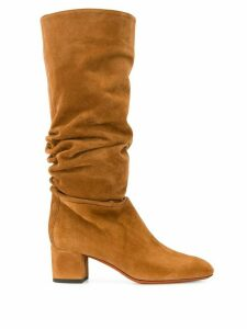 Santoni slouch boots - Brown