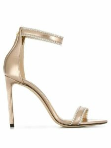 Jimmy Choo Dochas 100mm embellished sandals - GOLD