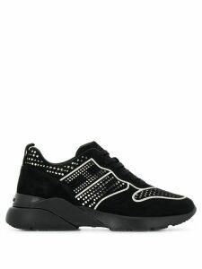 Hogan silver-tone stud detail sneakers - Black