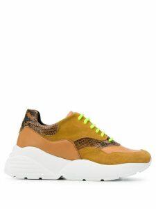 Twin-Set colour block sneakers - Brown