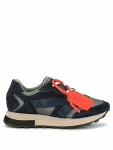 Off-White arrow logo low-top sneakers - Blue