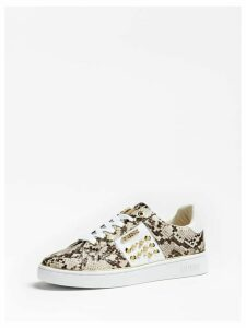 Guess Brandia Python-Print Sneakers