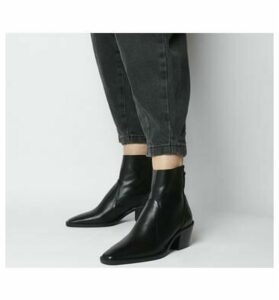 Office Arise- Unlined Boot BLACK LEATHER