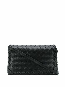 Bottega Veneta intrecciato weave shoulder bag - Black