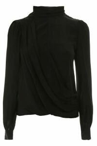 MICHAEL Michael Kors Draped Silk Blouse