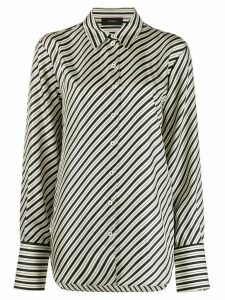 Joseph Striped Silk Shirt
