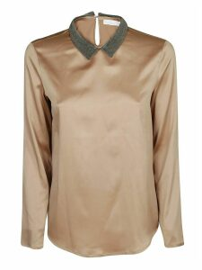 Fabiana Filippi Beaded Collar Blouse