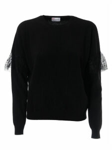 RED Valentino Lace Trim Sweater
