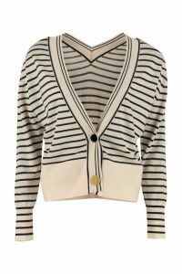 Forte Forte Contrasting Buttons Wool Cardigan