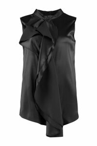 Fabiana Filippi Ruffled Satin Blouse