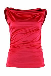 Pinko Silvestra Draped Jersey Top
